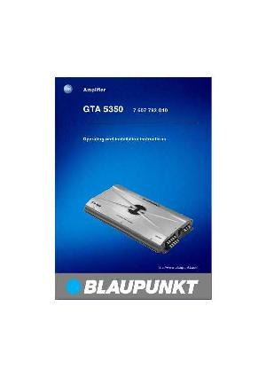 u0418u043du0441u0442u0440u0443u043au0446u0438u044f Blaupunkt GTA-5350 - Manual-Shop.ru.