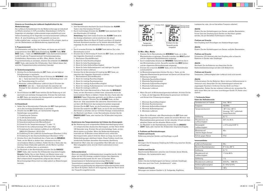 Hama Ews-1200 Инструкция