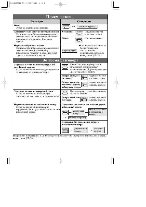 инструкция Panasonic Kx-t7030ru - фото 6