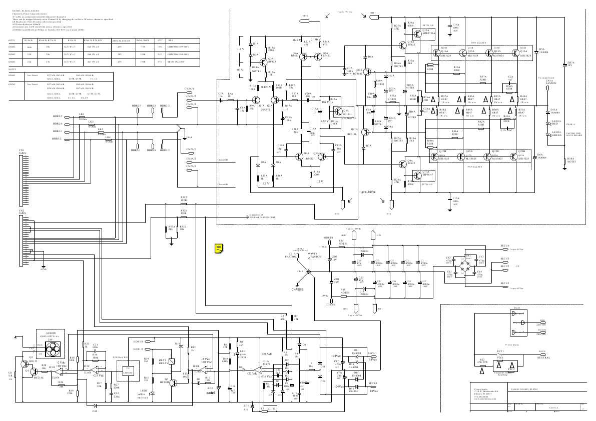 Wiring Diagram Xls402 Wiring Diagram and Schematics Source · Crown Xls 602 Schematic Wiring Diagram Simonand
