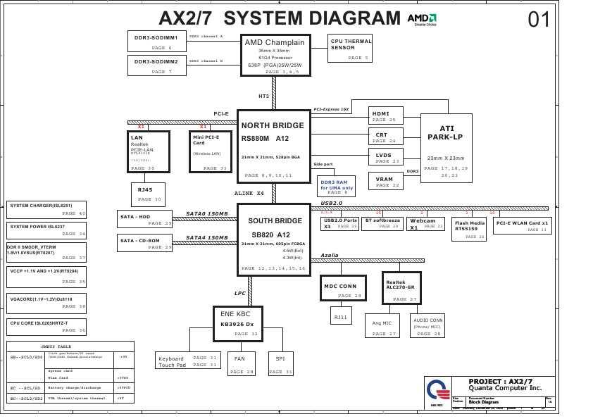 Схема HP G42 G56 G62 COMPAQ