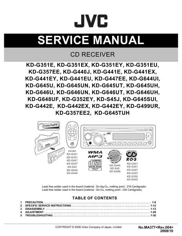 магнитола Jvc Kd-g441 инструкция - фото 9