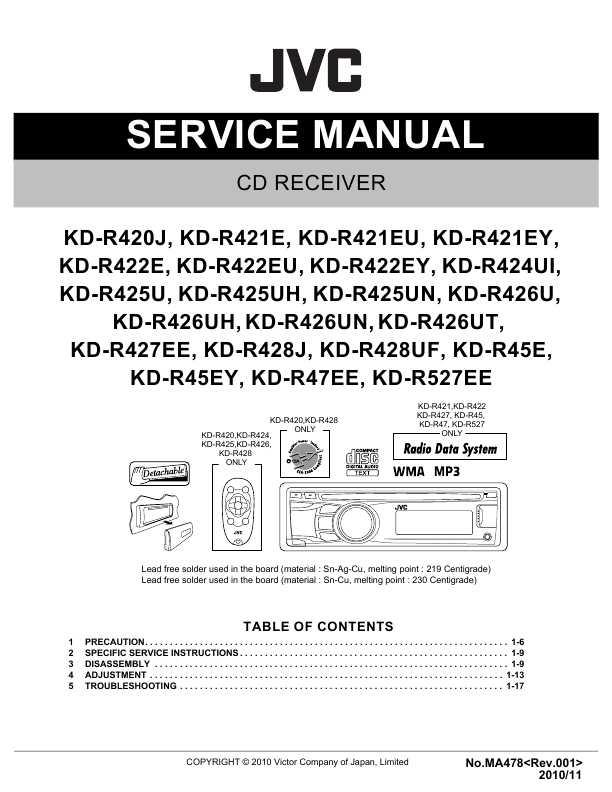 инструкция Jvc Kd R422 img-1