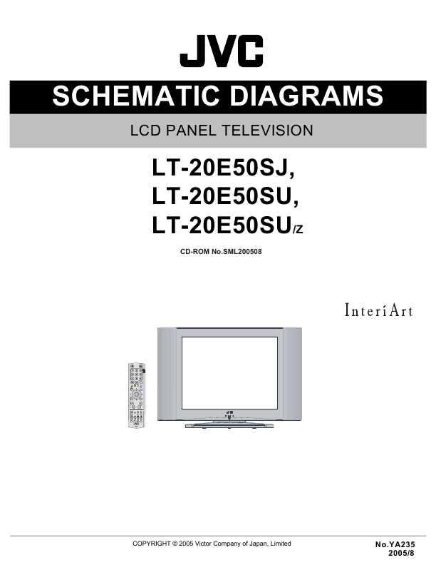 Jvc lt20e50su схема