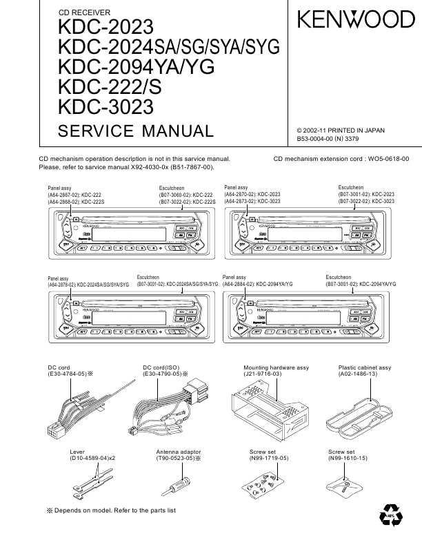 Kenwood kdc-2024s2094