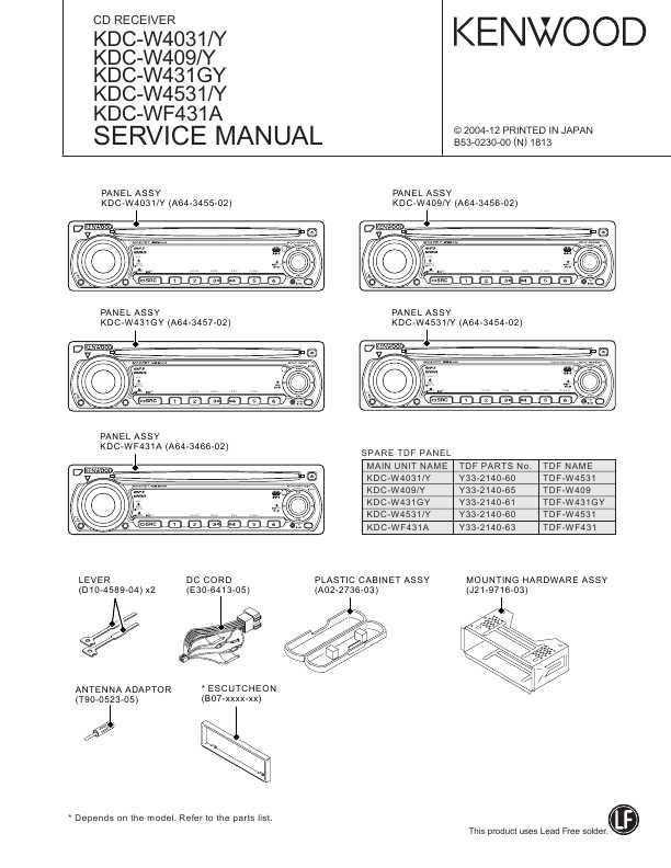 Kenwood Kdc-w431gy инструкция - фото 10