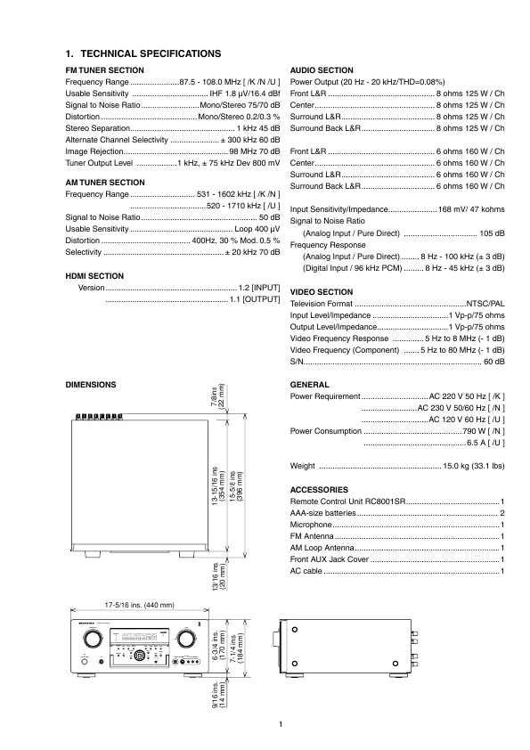 Marantz Sr8001 Service Manual