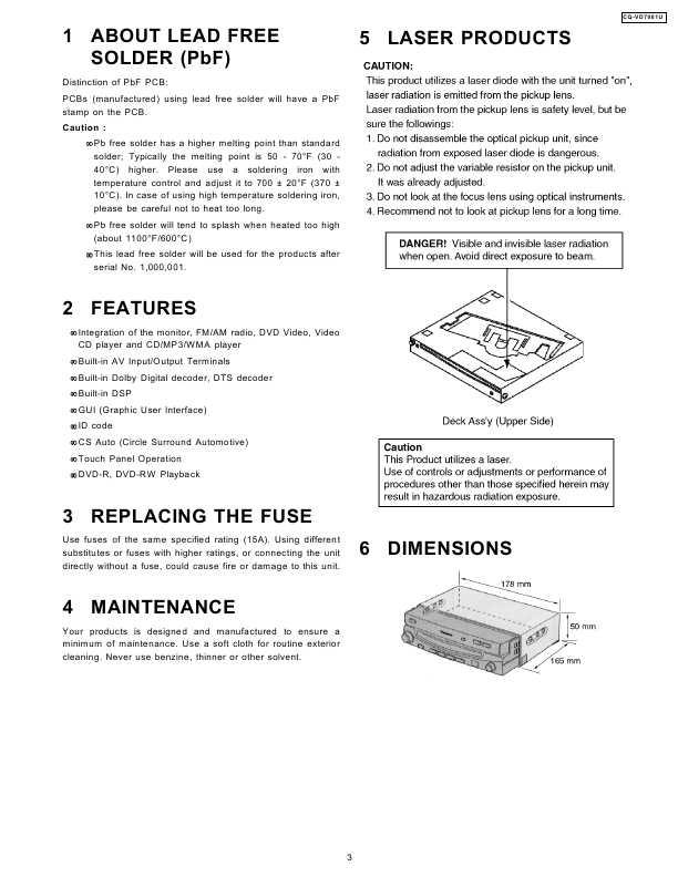 Service Manual Panasonic Cq Vd7001u Manual Shop Ru
