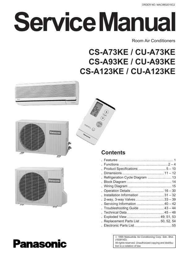 Panasonic cs-a123ke инструкция