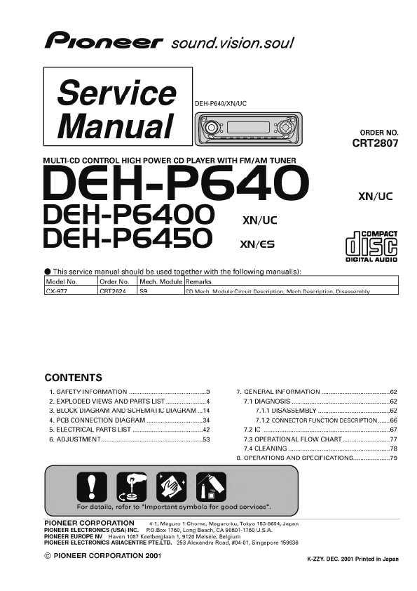 Сервисная инструкция pioneer deh p640 deh p6400 deh p6450 ― manual Сервисная инструкция pioneer deh p640 deh p6400 deh p6450 ― manual shop ru