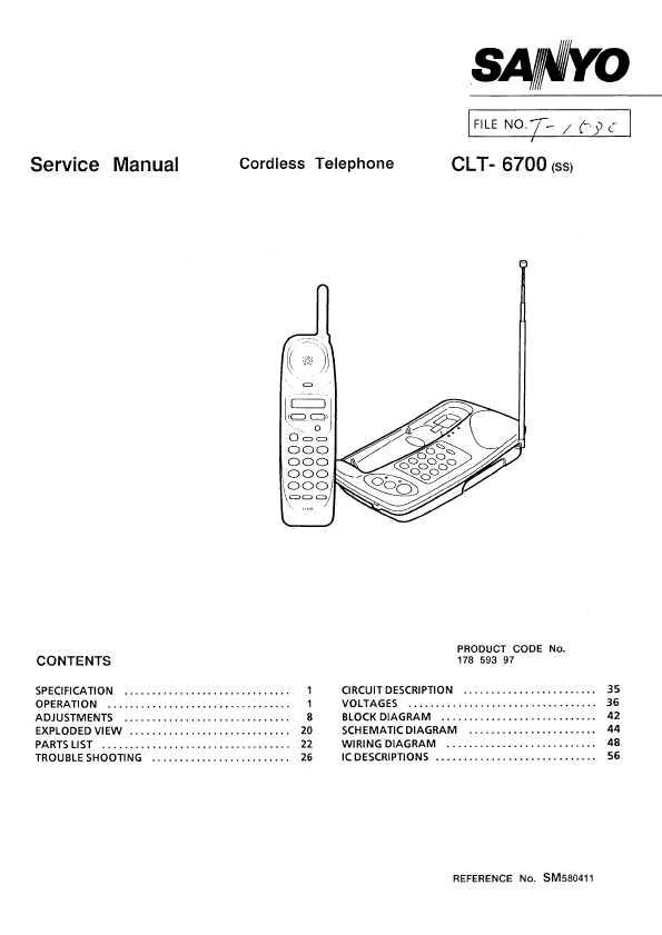 Sanyo clt-6700z инструкция