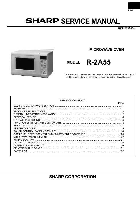 Sharp r-2a55 инструкция