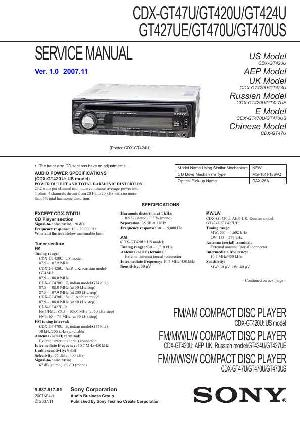 инструкция Sony CDX-GT47U,