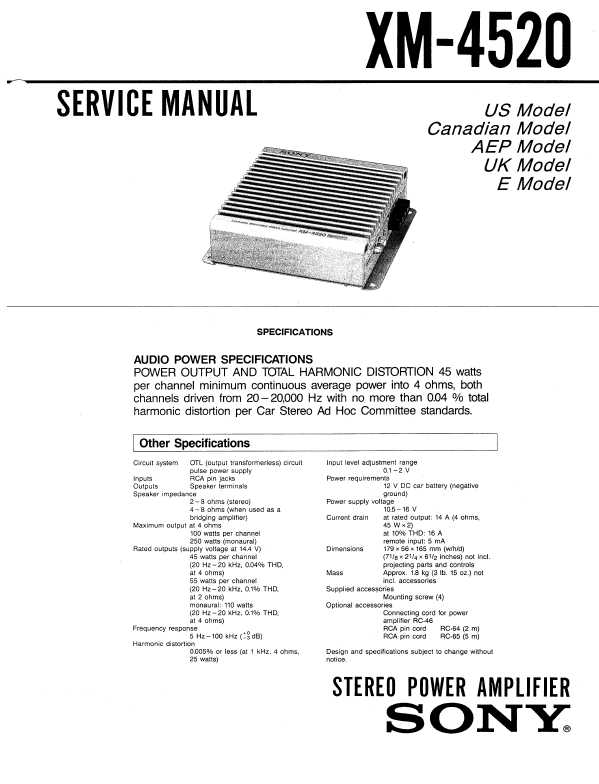 sony xm 4520 u2015 manual shop ru rh manual shop ru Basic Electrical Schematic Diagrams Basic Electrical Schematic Diagrams