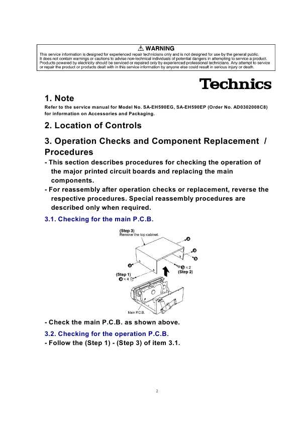 Technics RSDV290     ManualShopru